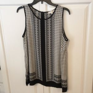 Kenar black patterned top